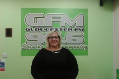 Jenny Eastwood, Editor Gloucester Citizen visit GFM Monday 30th September 2013