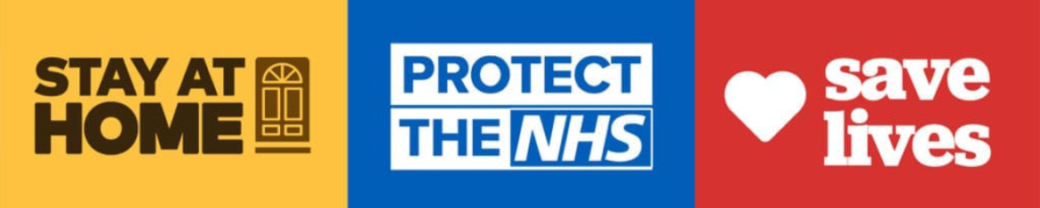 stay at home - save NHS save lives